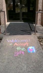 welcome sidewalk 1