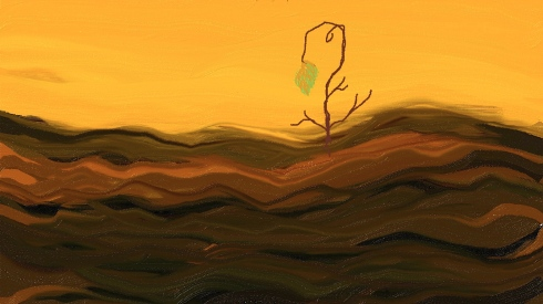 Hope in Brown Field by Trish Hernandez