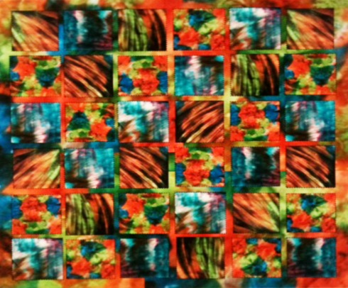 Fingerpainted Quilt